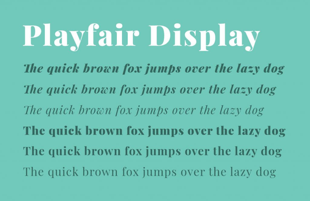 Font selection with various font weights